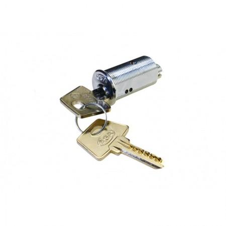 Cerradura de Seguridad Latón Cromado 537 de 35mm