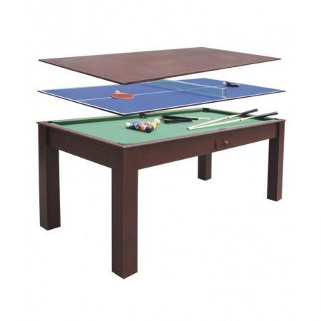 Mesa Multijuegos 3 en 1 convertible mesa de comedor
